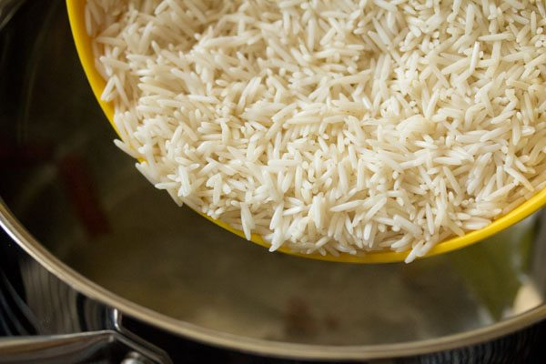 cooking basmati rice for biryani recipe