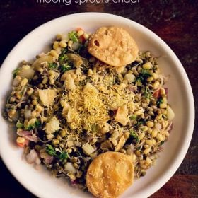 sprouts chaat, moong sprouts chaat recipe