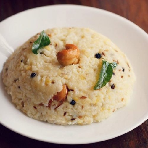 pongal recipe, ven pongal recipe, khara pongal recipe
