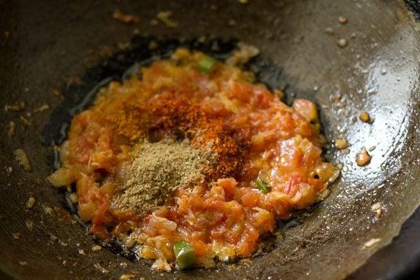 making aloo capsicum masala recipe