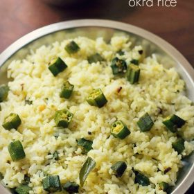 bhindi rice recipe, ladies finger rice