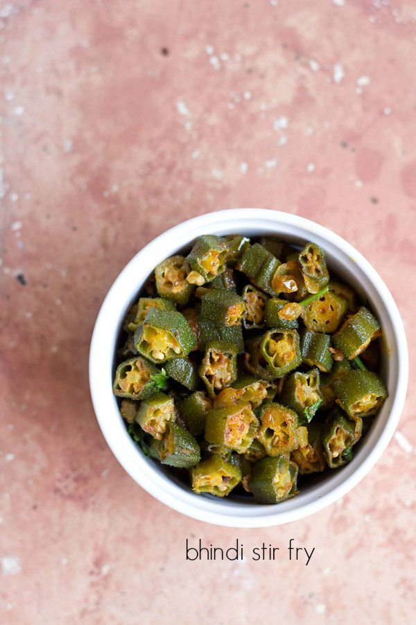 ladies finger fry, bhindi fry