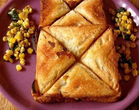 corn cheese toast recipe