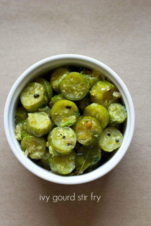 ivy gourd stir fry recipe