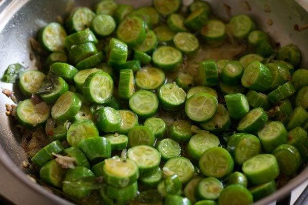making tindora stir fry recipe