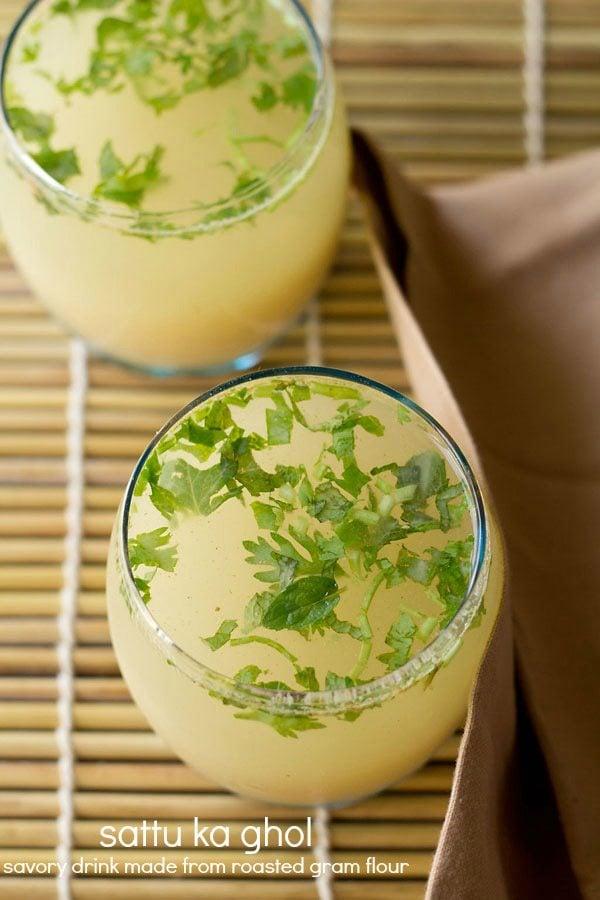 namkeen sattu recipe | sattu ka ghol or savory sattu drink recipe
