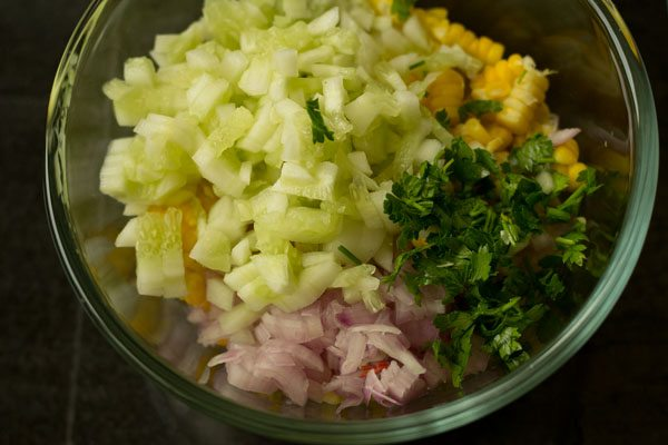 making sweet corn salad recipe