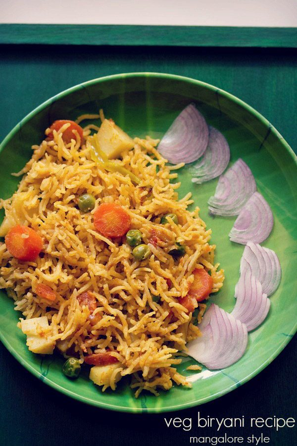 veg biryani recipe mangalorean style