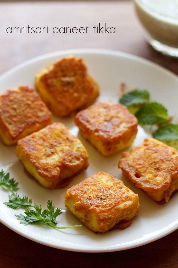 ... paneer tikka recipe, how to make amritsari paneer tikka recipe