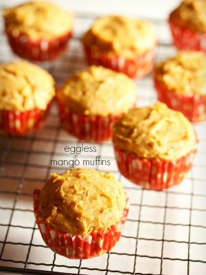 mango muffins, eggless mango muffins recipe