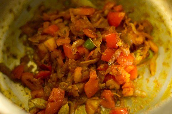making lobia pulao recipe