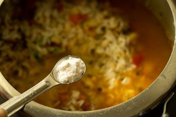 salt for lobia pulao recipe