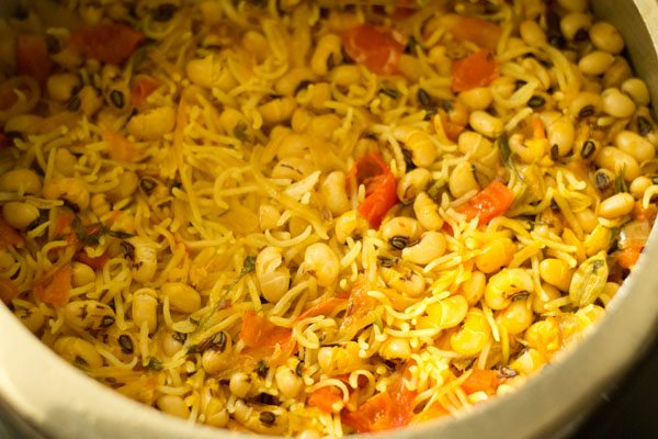 making lobia pulao recipe