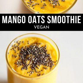 Mango oats smoothie