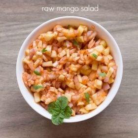 mango salad recipe, raw mango salad recipe, green mango salad recipe