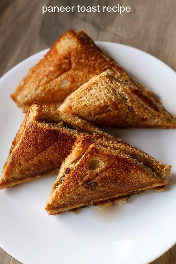 matar paneer toast recipe