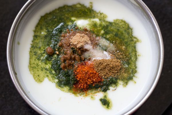 making mint raita recipe