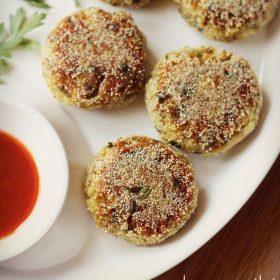 mushroom cutlet recipe, mushroom patties recipe