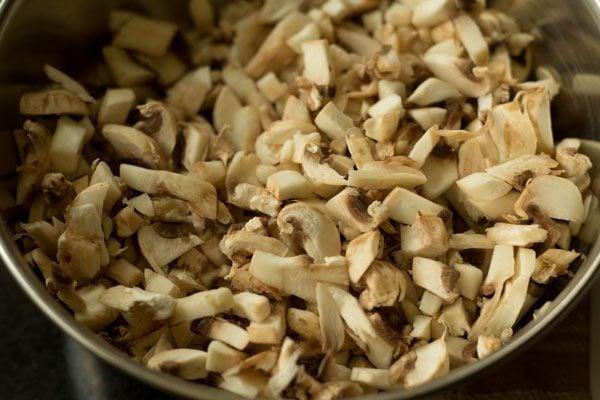 making mushroom cutlet recipe