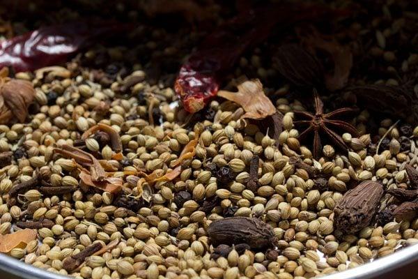 spices for pav bhaji masala recipe