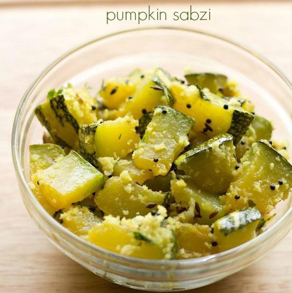 pumpkin bhaji recipe
