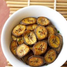 vazhakkai fry, raw banana fry recipe