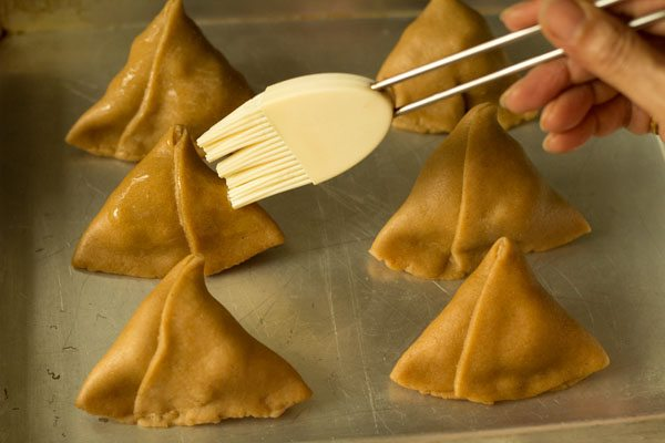 making baked samosa recipe