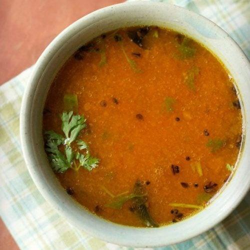 tomato charu recipe, tomato rasam andhra style