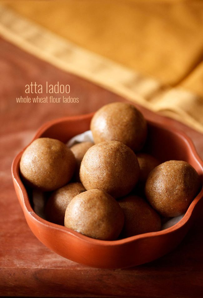 atta ladoo recipe, wheat ladoo recipe