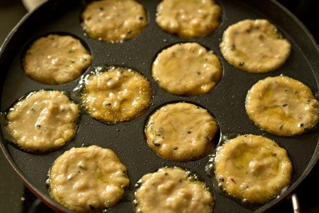 preparing banana appam recipe