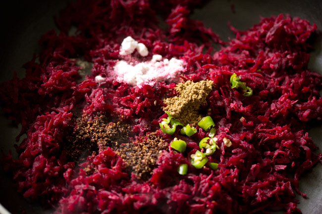 spices for beetroot paratha recipe