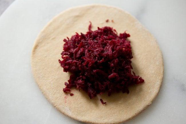 dough for preparing beetroot paratha recipe