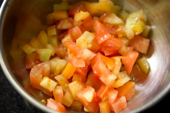 tomatoes for tomato bruschetta recipe