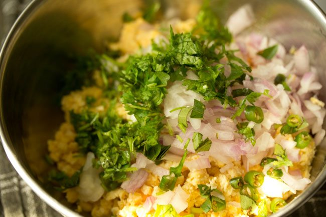 chana dal mixture for making chana dal vada recipe