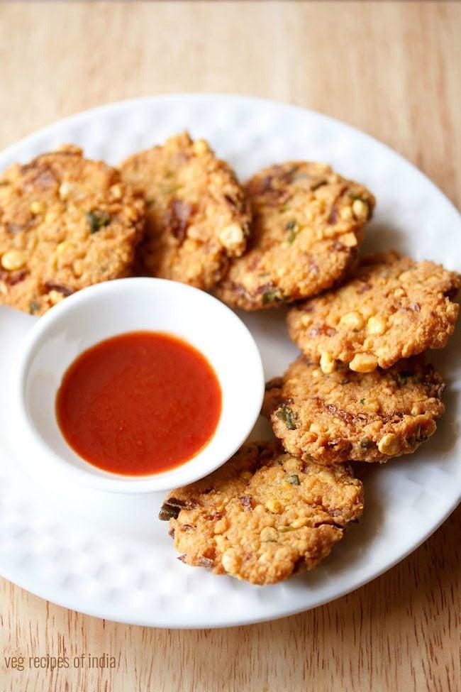 डाळ वडा - Dal Vada Recipe In Marathi - Chana Dal Vada ...