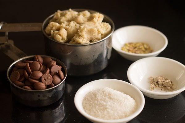 ingredients for chocolate modak recipe