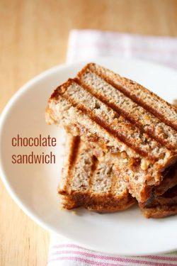 chocolate sandwich recipe with choco chips | chocolate recipes