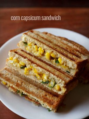 corn capsicum sandwich recipe