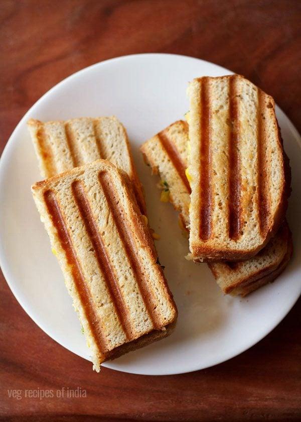 corn capsicum sandwich recipe