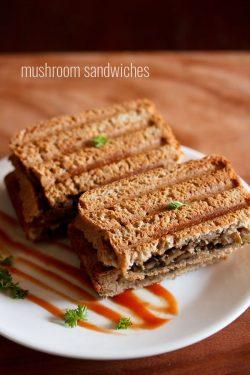 mushroom sandwich recipe, how to make mushroom sandwich recipe