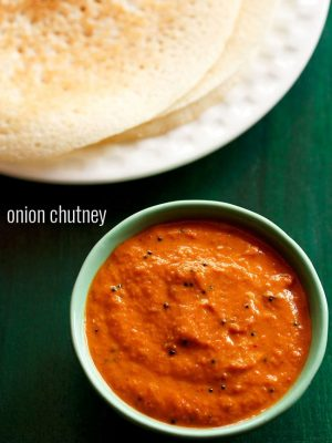 onion chutney recipe, onion chutney