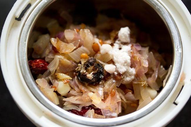 onion mixture for onion chutney recipe