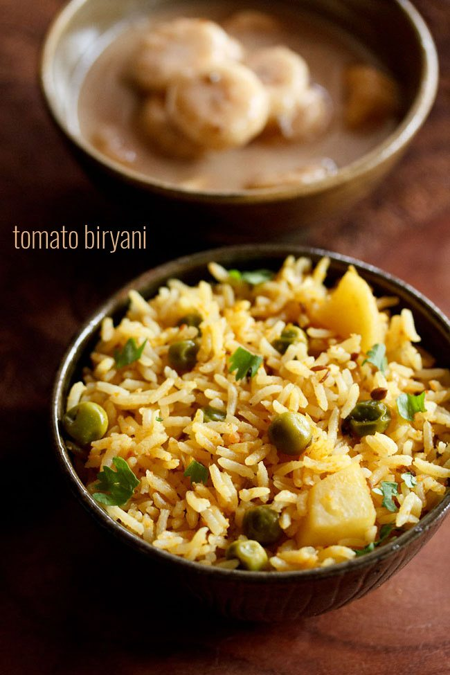 Tomato Biryani One Pot Dassana S Veg Recipes
