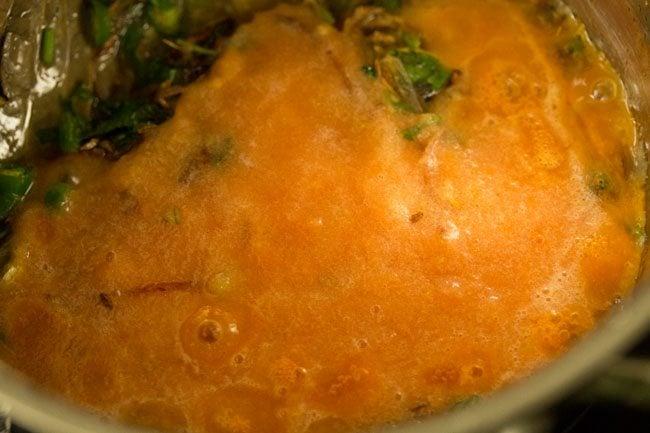 making tomato biryani recipe
