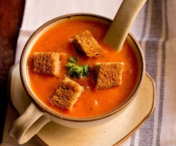 tomato soup restaurant style - veg recipes