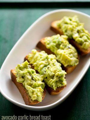 avocado garlic bread toast