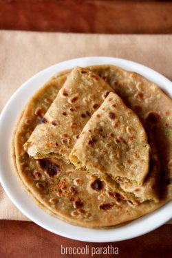broccoli paratha recipe, how to make broccoli paratha recipe