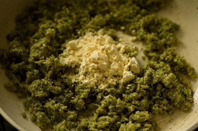 besan for broccoli paratha recipe