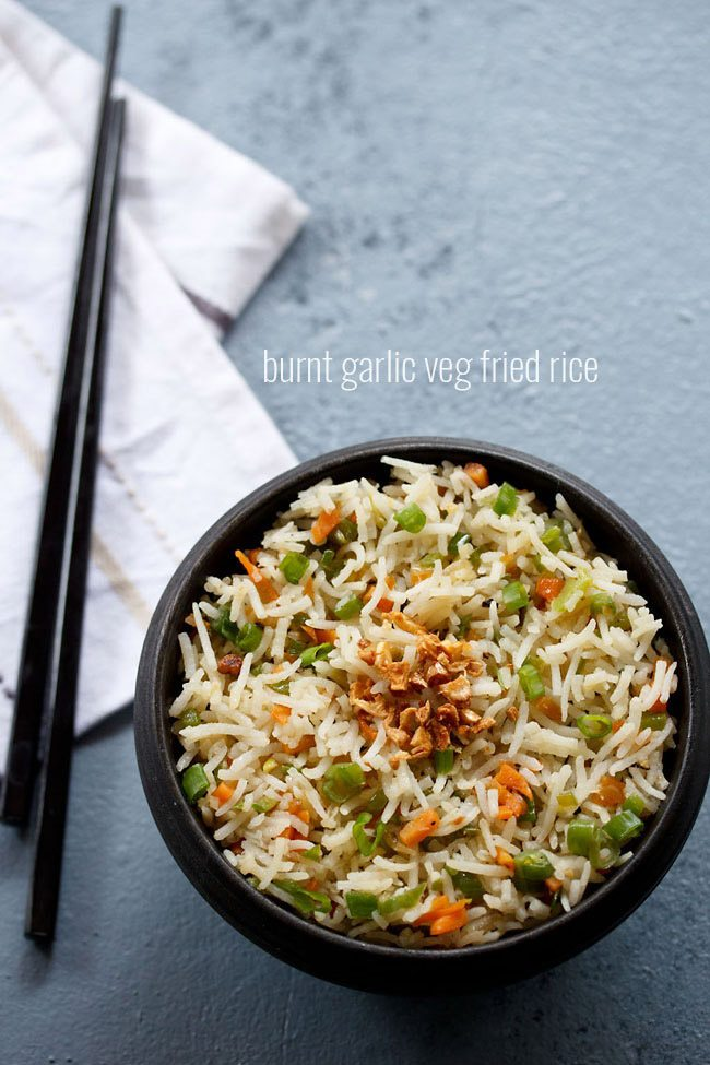 burnt garlic fried rice recipe