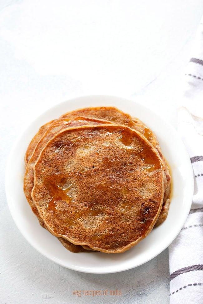 how to make eggless pancakes recipe